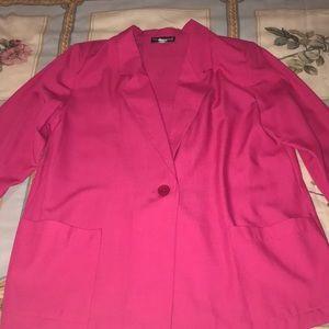 Sag Harbor Woman's Dark Pink Blazer Dress Jacket